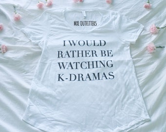 I would rather be watching K-dramas American Apparel T-Shirt