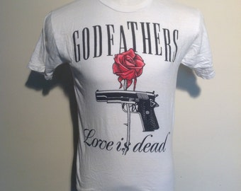 The Godfathers original 1988 Love Is Dead promo, Vintage T-Shirt.