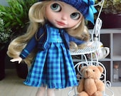 Handmade dress +  jacket + boots + hat for Blythe and Pullip outfit