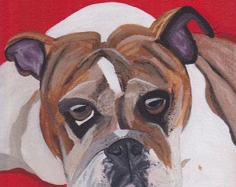 Hand Painted Pet Portrait