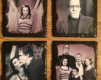 The munsters slate coasters