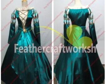 Brave Merida Cosplay Dress Brave Merida Cosplay Costume Custom made in any size