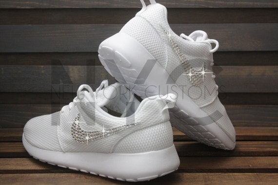 84a04db73fb3 best Ready to Ship Women 6 Blinged Nike Roshe Run Shoes by NYCustoms ...