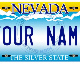 Personalized Custom Nevada Car Vehicle License Plate Auto Tag