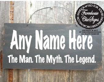 Personalized papa gift, Personalized papa sign, Papa The Man The Myth The Legend, father's day gift, dad sign, grandpa sign, dad gift
