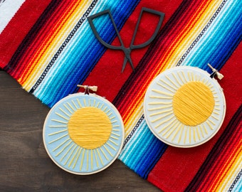 Embroidery Hoop Art - Sun Shine On Me Embroidery Art in 4-inch Hoop - Sunshine - Sunny - Summer - Spring