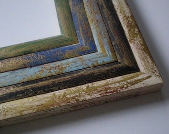"""13x19"""" frame picture frame poster frame distressed frame 33x48cm hand painted A3+ rustic frame housewares RusticFrameShop"""