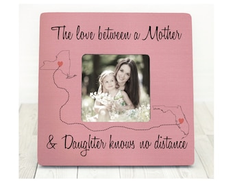 Mothers Day Gift for Mom Picture Frame Personalized Gift for Mom Long Distance Mother Daughter Personalized States mother daughter frame