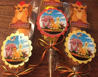 Lion guard themed Marshmallow Party Favors, Edible Party favors, lion king