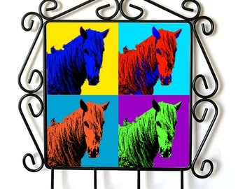 Giara horse- clothes hanger with an image of a horse. Collection. Andy Warhol Style