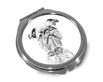 Grand Griffon Vendéen  - Pocket mirror with the image of a dog.