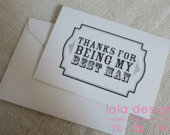 Thanks For Being My Best Man  - Attendant Card