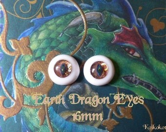 Handmade eyes 16 mm - Earth Dragon Eyes