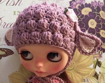 Blythe Hat/Little Lamb Hat for Blythe Doll - Pink Rose