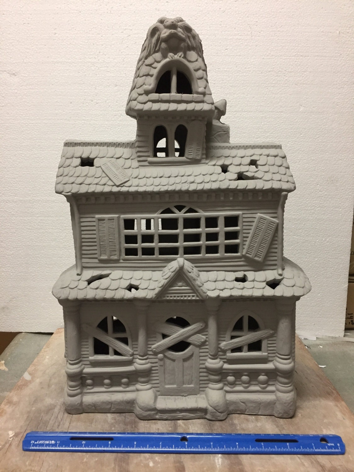 Ceramic House Paint Of Ceramic Bisque Large Haunted House Ready To Paint