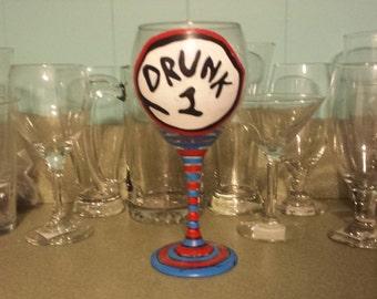 Drunk wine glasses
