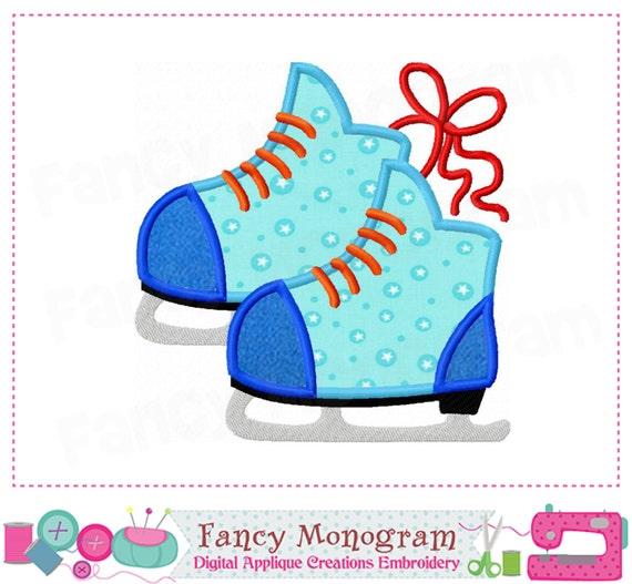 Apliques de patines de hielo dise o de patines para hielo - Apliques de diseno ...