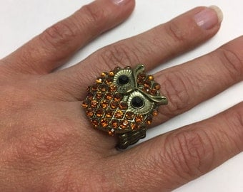 Large Statement Owl Ring