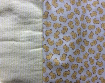 Yellow Ducks Reversible Blanket