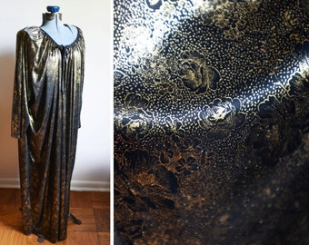 Large / Extra Large and over  - Shiny Gold House Dress