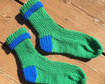 Size 9-10, Knit Socks, Warm Winter Socks