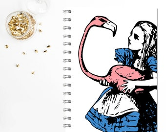A5 Alice in Wonderland Notebook / Journal Wire Bound