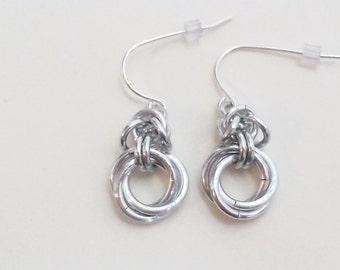 Byzantine Love Knots Chainmail Earrings