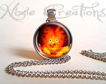 Necklace Calcifer - Howl's Moving Castle inspired