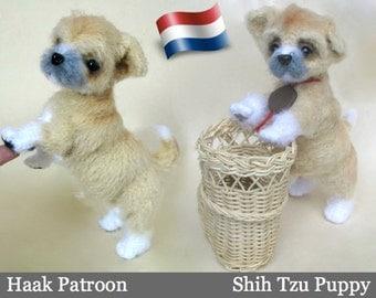 106NLY Haak Patroon Pattern Shih Tzu puppy  - PDF file Amigurumi by Chirkova Etsy