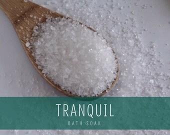 Tranquil Bath Soak, Relaxing Bath Salts, Calming Bath Salts, All Natural Bath Salts