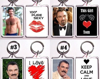 Tom Selleck Keychain Key Ring - Many Designs To Choose From Shirtless