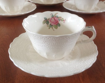Spodes Jewel Copeland BILLINGSLEY ROSE Pink Cup and Saucer (4 Available)