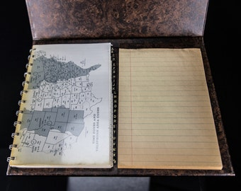 Vintage O-Binded Telephone / Address / Notebook with Time Zones and Phone Codes