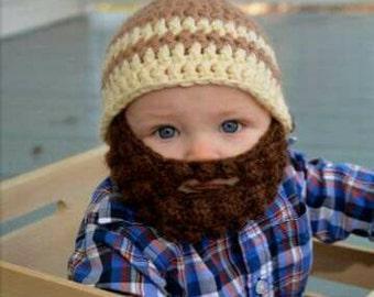 Baby beard beanie (baby beard hat) customizable colors!