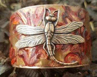 Dragonfly Cuff Bracelet