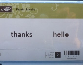 Thanks & Hello Stamp Set  - Stampin' Up! - 2 stamps - Price Reduced
