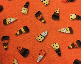 Cheeky Wee Pumpkins Candy Corn Halloween Fabrics by Studio E Fabric DT K Signature 3269 33 Half Yard Cut and Yardage Available
