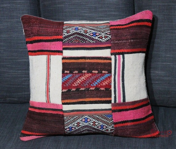 Moroccan Floor Pillows: Large Moroccan VINTAGE KILIM CUSHION Or Floor Cushion Cover