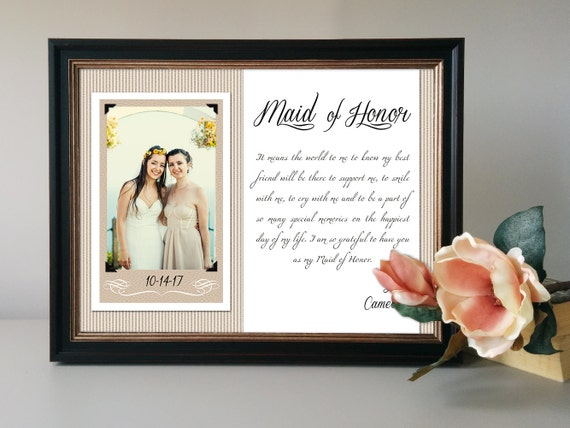 Wedding Gifts For Maid Of Honor: Maid Of Honor Gift Matron Of Honor Thank You Personalized