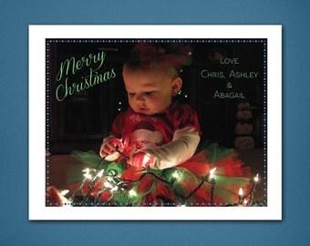 Merry Christmas Card Full Photo • Christmas Card • Christmas • Holiday Cards • Photo Card • Family Christmas Card • Xmas Card • 4x6 Card
