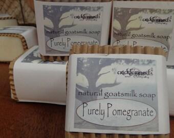 Purely Pomegranate fragranced Natural Goatsmilk Soap