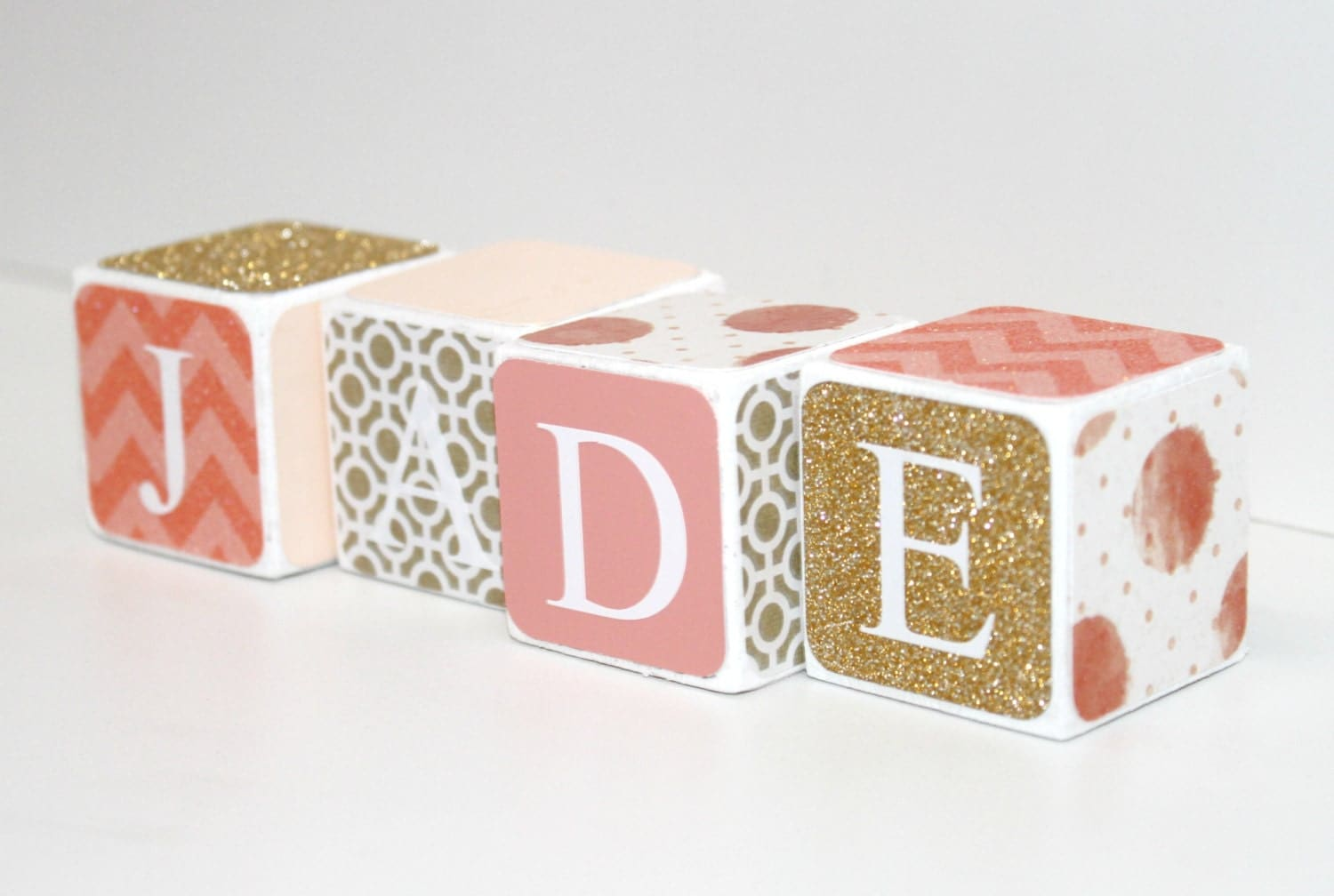 Custom baby name baby blocks nursery baby shower gift zoom negle