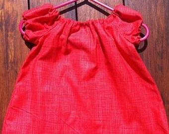 Little Red Checkered Dress