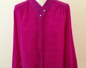 Fuchsia Pink Retro Shirt