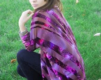 Kimono, Purple Burnout Velvet Kimono Cardigan, Kimono Jacket, Women's Cardigan, Handmade Kimonos,Gift for Her, Bridal, Hippie Gypsy Love