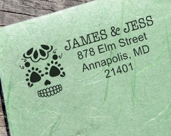 20% OFF NOW Sugar Skull Twenty Five Address Stamp - Custom Address Stamp  - (sugarskull_025)