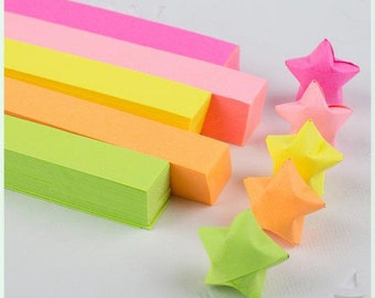 5 fluorescence colors total 520 pcs Origami Star Paper Kit  Lucky Wishing Star paper strips star paper set DIY Valentine gift-Christmas gift