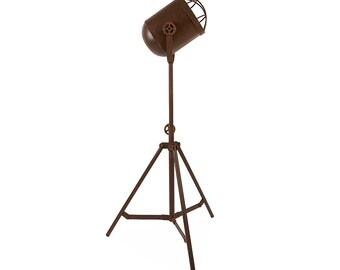 Vintage Rustic Floor Tripod Lamp Industrial Factory with  Edison Filament Bulb