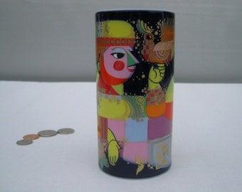 Pristine  Bjorn WIINBLAD Rosenthal Studio Linie ARABIAN NIGHTS Vase vivid colors