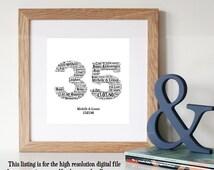 ... imprimable- 35 ans anniversaire cadeau de mariageUnique cadeau
